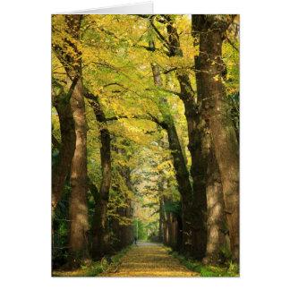 Ginkgo Biloba trees Greeting Card