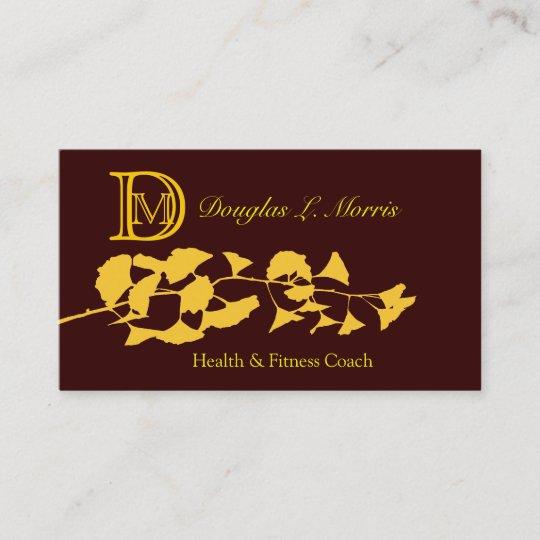 Ginkgo holistic zen monogrammed business card zazzle ginkgo holistic zen monogrammed business card colourmoves