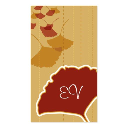 Ginkgo Leaf Biz Card Business Card Template