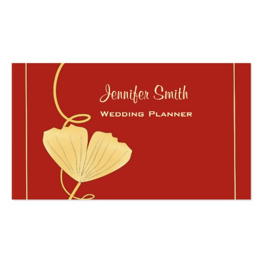 Ginkgo leaf business card zazzle for Leaf business cards