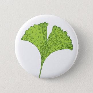 Ginkgo Leaf Button