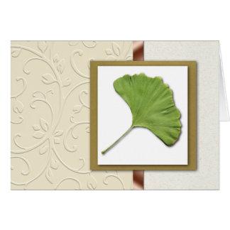 Ginkgo Leaf Card
