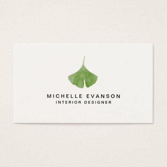 Ginkgo leaf simple nature minimalist business card zazzle ginkgo leaf simple nature minimalist business card reheart Gallery