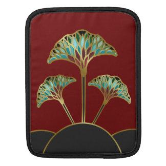 Ginkgo Leaves Art Deco iPad Sleeve