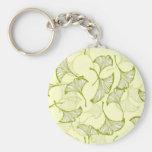 Ginkgo Leaves Basic Round Button Keychain
