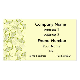 Ginkgo Leaves Business Cards
