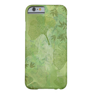 Ginkgo Leaves Foliage Overall Pattern Green Colors Barely There iPhone 6 Case