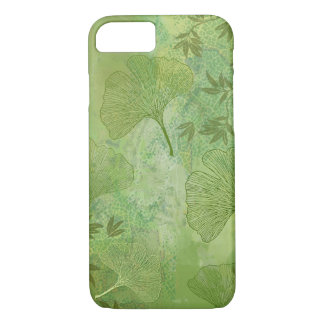 Ginkgo Leaves Foliage Overall Pattern Green Colors iPhone 8/7 Case