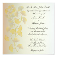 Ginkgo Leaves in Fall Invitation