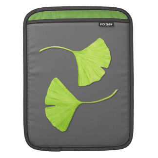 Ginkgo Leaves iPad Sleeve | Customizable Color