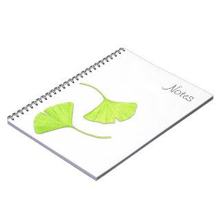 Ginkgo Leaves Notebook