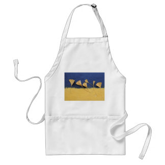 ginkgo leaves on handmade paper adult apron