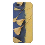 ginkgo leaves on handmade paper iphone4 case cover for iPhone 5
