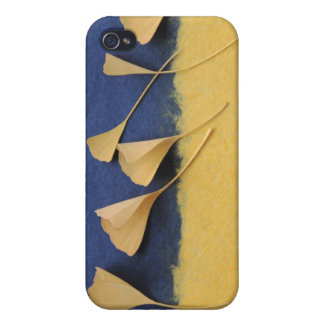 ginkgo leaves on handmade paper iphone4 case iPhone 4/4S cases