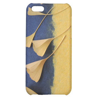 ginkgo leaves on handmade paper iphone4 case iPhone 5C covers