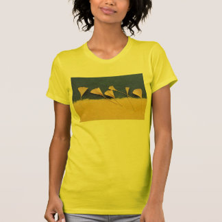 ginkgo leaves on handmade paper womens t-shirt