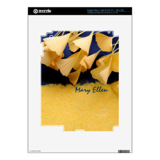 ginkgo leaves on texture iPad 3 skin