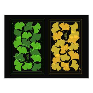 Ginkgo Leaves photo print