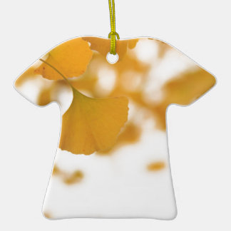 Ginkgo Double-Sided T-Shirt Ceramic Christmas Ornament