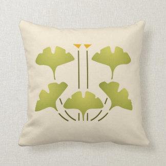 Ginkgo Stencil Pillow