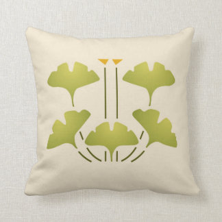 Ginkgo Stencil Throw Pillow