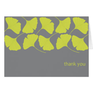 Ginkgo Thank You / Gray Card