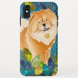 Case-Mate Barely There Apple iPhone XS Max Case with Chow Chow Phone Cases design