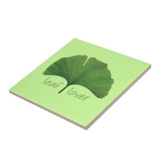 Ginkgo Tree Leaf Small Square Tile