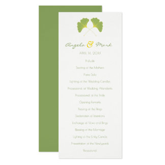 Ginkgo Tree Leaves Wedding Program