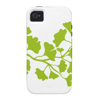 ginkgo tree silhouette with green leaves iPhone 4 cases