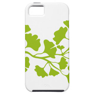 ginkgo tree silhouette with green leaves iPhone 5 cover