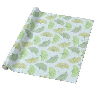 Ginkgo verde que vaga papel de regalo