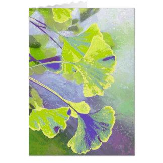 Ginkgo Watercolor Note Card