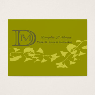 Ginkgo Yoga Elegant Professional   Monogrammed Business Card