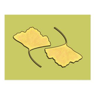 Ginko Fall Leaf Postcard