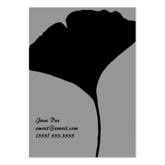 Ginko Leaf Calling Card Large Business Cards (Pack Of 100)
