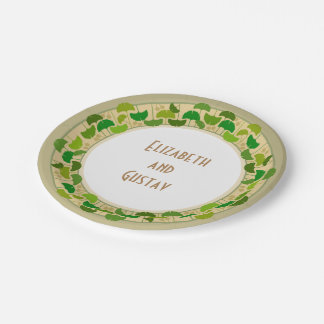 Ginko Leaves Wedding Paper Plates