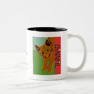 Ginnal logo Mug with Cat