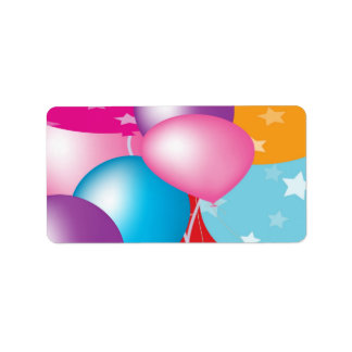 GINNILAW  Celebrations Baloons Personalized Address Labels