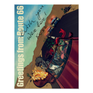 Ginny & Clutch (Greetings From Route 66) Poster