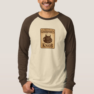 ginormousknob long sleeve tan baseball shirt