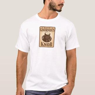 ginormousknob on tan ringer T-Shirt