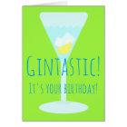 Gintastic Personalised Happy Birthday Greetings Card