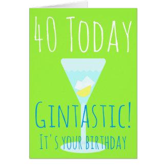 Gintastic personalizó edad del feliz cumpleaños tarjeta de felicitación