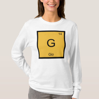 Gio Name Chemistry Element Periodic Table T-Shirt