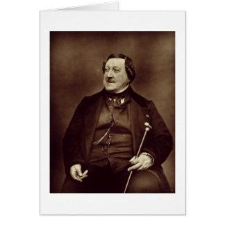 Gioacchino Rossini (1792-1868) de 'Galerie Conte Tarjeta De Felicitación