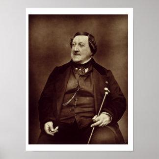 Gioacchino Rossini (1792-1868) from 'Galerie Conte Poster