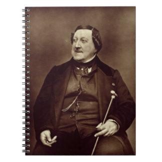 Gioacchino Rossini (1792-1868) from 'Galerie Conte Spiral Note Book