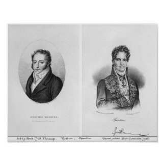Gioacchino Rossini Gaspare engraved by Poster