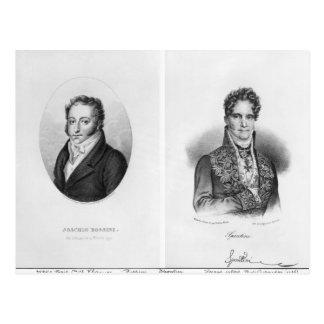 Gioacchino Rossini Gaspare grabado cerca Tarjeta Postal